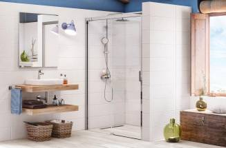 Bathroom space with shower screen by Roca